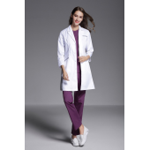 Autumn Women anti-wrinkle long sleeve nurse uniform dental clinic doctor's outcoat skin care and beauty care working white coat