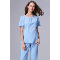 2017 Rushed Medical Suit Lab Coat Women Hospital Medical Scrub Clothes Uniform Fashion Design Slim Fit Breathable Whole Sale