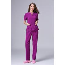 2017 Summer women hospital medical scrub clothes set dental clinic and beauty salon nurse uniform  fashionable design slim fit