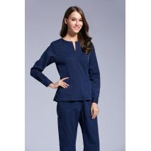 2017 Autumn women hospital medical scrub clothes set dental clinic and beauty salon nurse uniform  long sleeve slim fit
