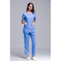 2017 Hospital Uniform Women's Short Sleeve Round Neck Hospital Surgical Or Medical Scrub Uniforms Set Beauty Spa Working Clothes