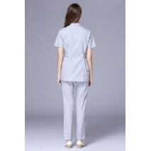 2017 New  Women's Stand Collar Short Sleeve Waist Adjustable Nurse Uniform Dental Clinic Nursing Working Wear Free Ship