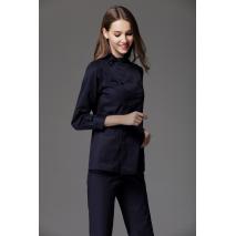 2017 Spring  Women's stand collar long sleeve nurse uniform set dental clinic nurse medical working clothes antiwrinkle