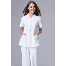 2017 Summer New Women Anti-wrinkle Anti-static  Slim Waist Nursing Clothes Uniform Set Hospital Medical Scrub High quality