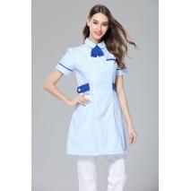 2017 Women Sweater Medical Uniforms New Spa Massage Medical Scrub Nurse Uniform Dental Clinic Short Sleeve Clothes Slim Fit