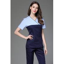 2017 Women's V Neck Short Sleeve Surgical Or Medical Scrub Clothes Sets Uniforms New fancy design medical scrub uniforms