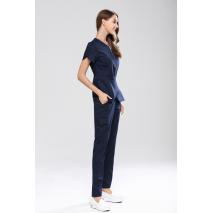 2017 center metal zipper spa medical beauty scrub set women's slim fit dental clinic medical srub uniforms set repeition suits