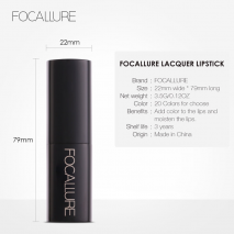 FOCALLURE High Quality Cream Lipstick Soft Long Lasting Pigmented Tint Sexy Red Lip Stick Beauty Matte But not Dry Lipstick