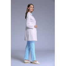 Scrub Real 2017 New Doctor Overcoat Women Anti-wrinkle Long Sleeve Dental Clinic Doctor's Suit Slim Fit Nurse Uniform Free Ship