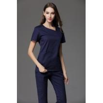 Women's Short Sleeve Small U Neck Surgical Or Medical Scrub Clothes Sets Uniforms New Design Scrub Uniform Set