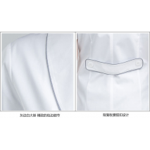 Women's anti-wrinkle summer short sleeve nurse uniform dental clinic doctor's outcoat medical shop clerk white color free ship
