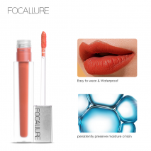 FOCALLURE New Long-lasting & Ultra-matte Liquid Lip Stain High Quality Waterproof Lipstick Quick-drying Transfer-free