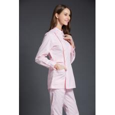 2016 Winter  Women's Stand Collar Long Sleeve Waist Adjustable Nurse Uniform Dental Clinic Nursing Working Wear Free Ship