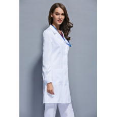 Autumn and winter women anti-wrinkle long sleeve nurse uniform dental clinic doctor's outcoat slim fit white color free ship